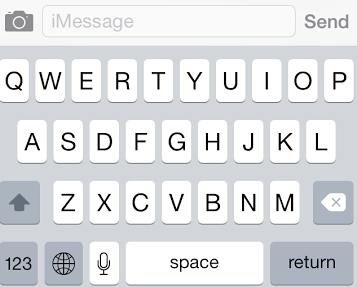 There is a new look to the keyboard inside iOS 7.1