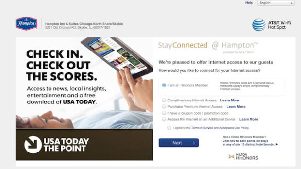 free internet coupon code hilton
