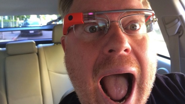 Noted Google Glass enthusiast Rober Scoble behind the wheel
