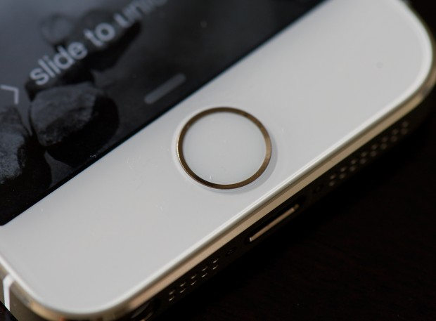 Unlock the iPhone 5s with a fingerprint.