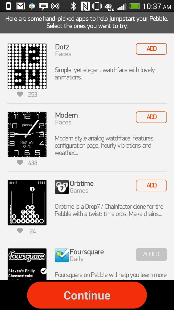 pebble app store for android
