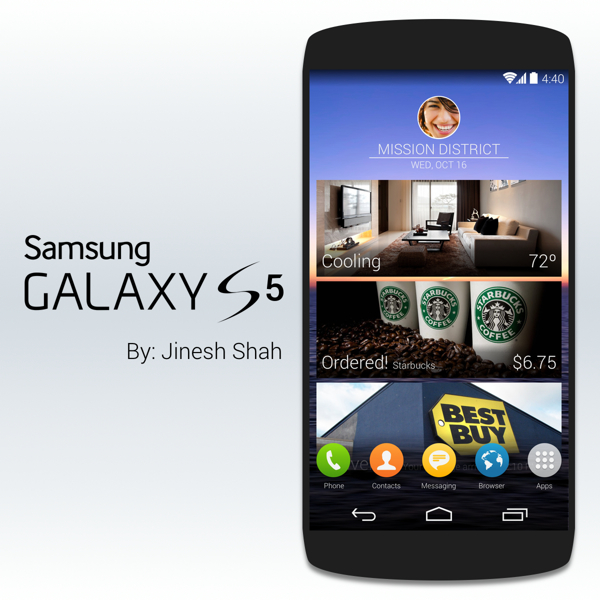 A new Galaxy S5 concept ropes in Galaxy S5 rumors.