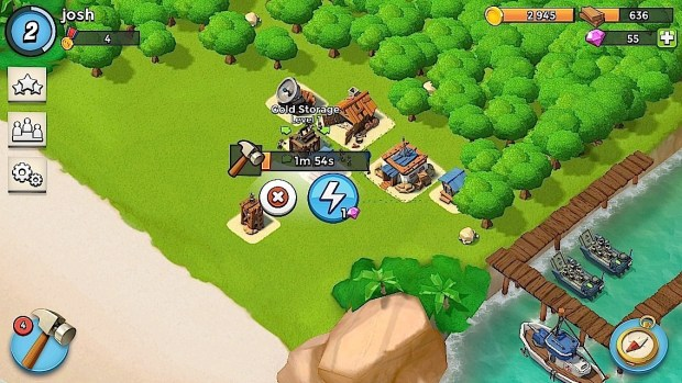 A good defense is key in Boom Beach.