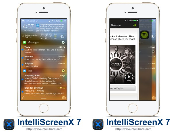 IntelliscreenX for iOS 7 is one of the most anticipated iOS 7 Cydia tweaks.