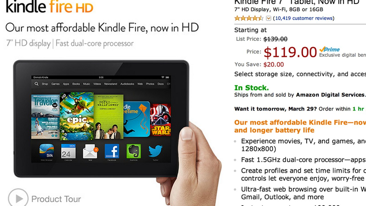 Kindle Fire Sale: Amazon Tablets Starting at $119