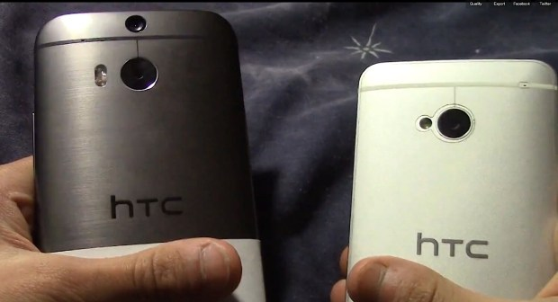 The New HTC One looks aluminum, but darker and more like a brushed aluminum.