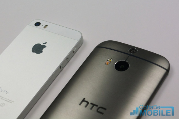We're here to help buyers pick between the iPhone 5s and the new HTC One M8.