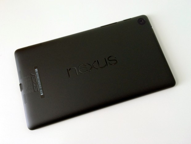 The Nexus 7 LTE features a nice soft touch back.