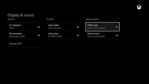 Check the Display and Sound settings to fix this Xbox One problem.