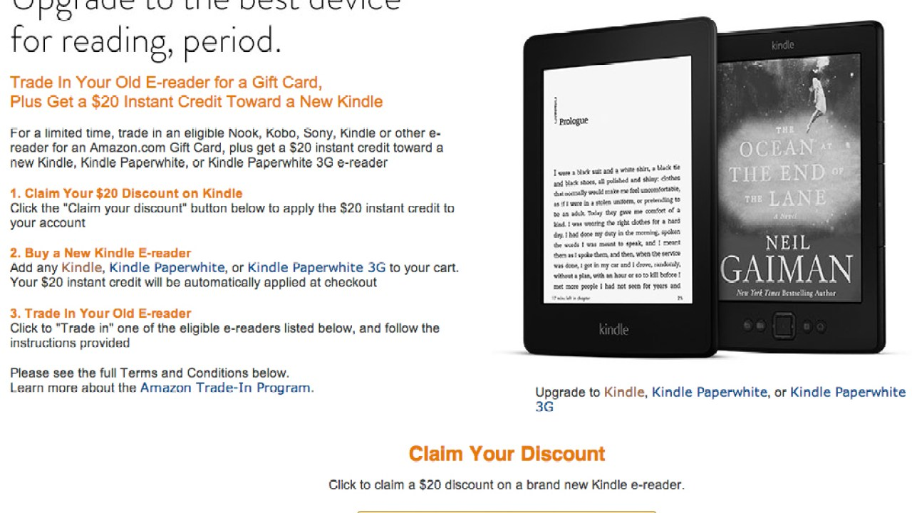 Kindle Sale: $49 for Entry-Level eReader, $99 for Kindle Paperwhite