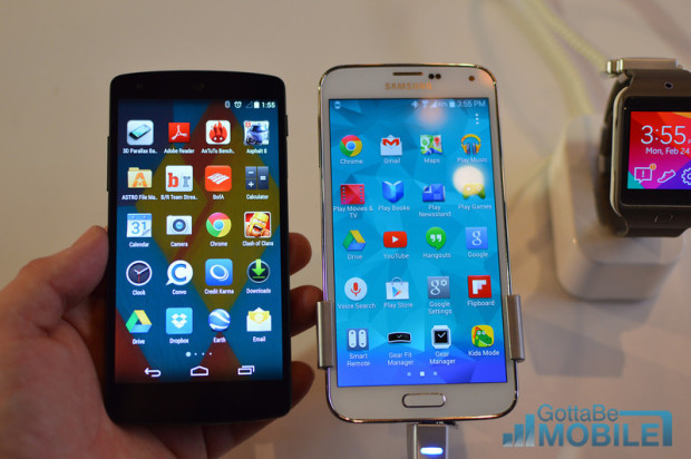 Does the Galaxy S5 with A Super QHD Display?
