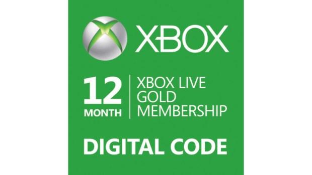 xbox live gold digital code