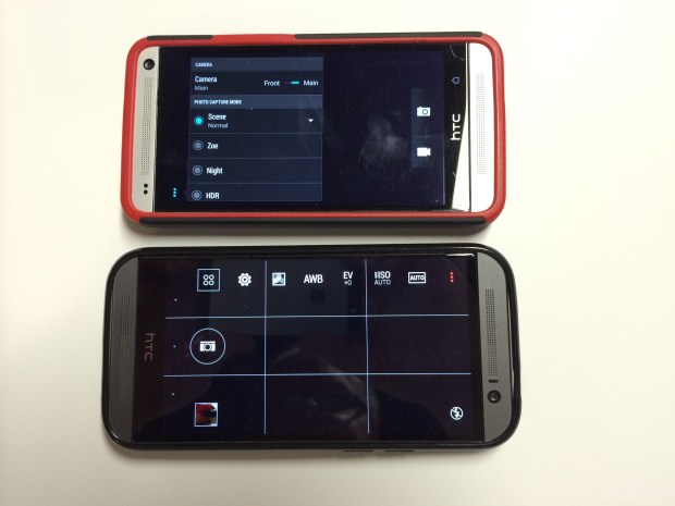 htc one m7 and htc one m8 menu