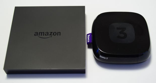 amazon fire tv v roku 3 boxes only
