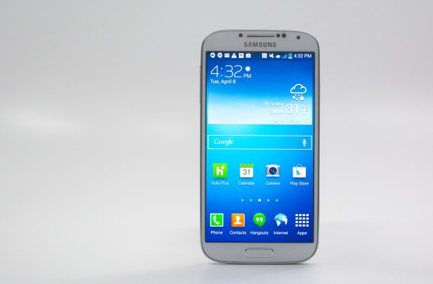 The Galaxy S4 uses a 5-inch 1080p display.