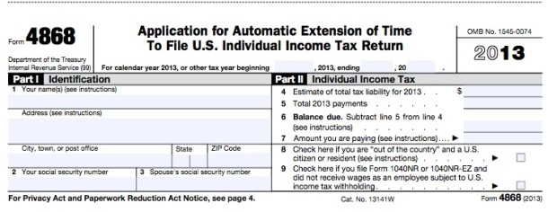 This form is all you need to fill out for a six month tax extension.