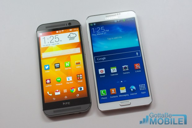 New HTC One M8 vs - Note3 15-X3