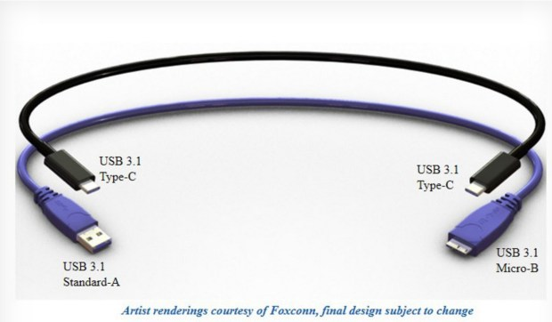This is a render of a new reversible USB cable that will be ready for fall smartphone releases.