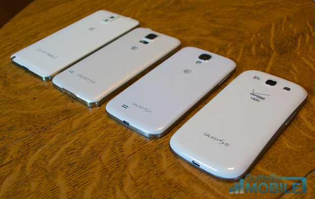 Samsung Galaxy S5 vs Galaxy S4 vs Galaxy S3 -  Build Quality