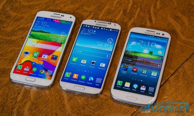 Samsung Galaxy S5 vs Galaxy S4 vs Galaxy S3 - Display HERO