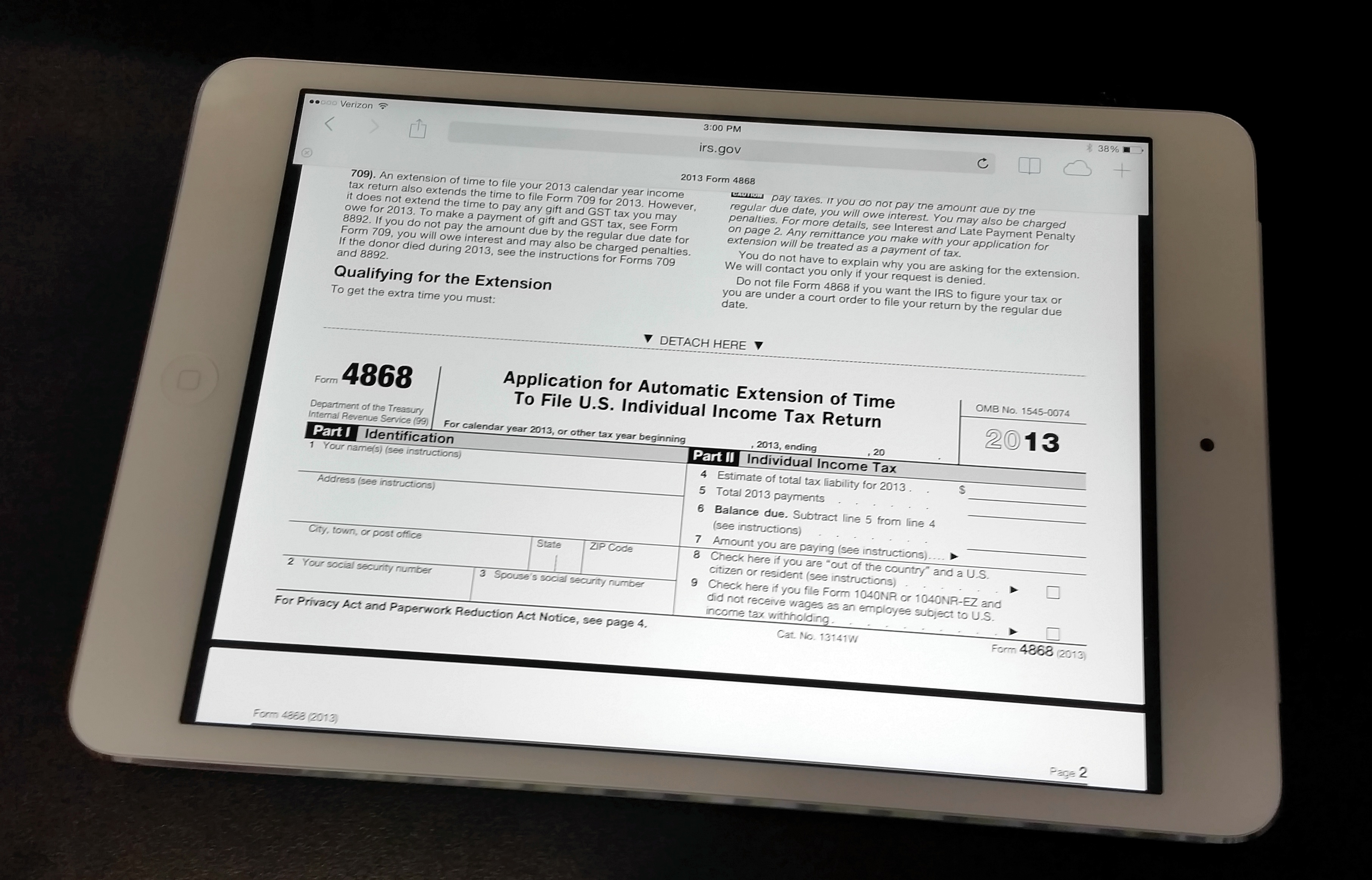 How to file a tax extension from iphone ipad or computer form 4868 file for a free 6 month tax extension using irs form 4868 on the ipad falaconquin