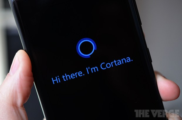 A picture of Cortana, captured by The Verge.