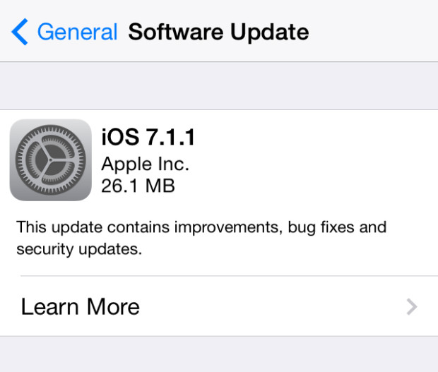 iOS 7.1.1 is out now