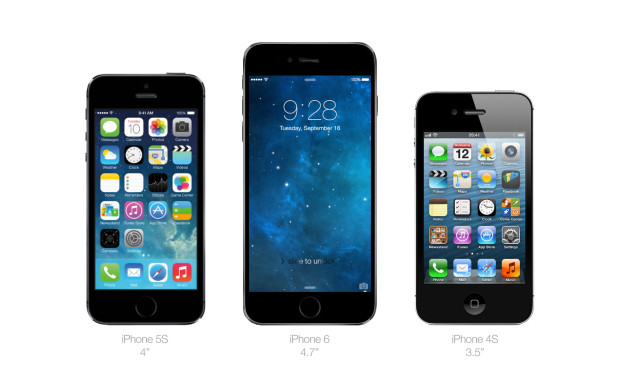 An iPhone 6 with a 4.7-inch display will likely be bigger than the iPhone 5s and iPhone 4s.