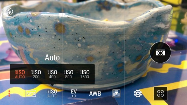 HTC One M8 camera MAX ISO Settings