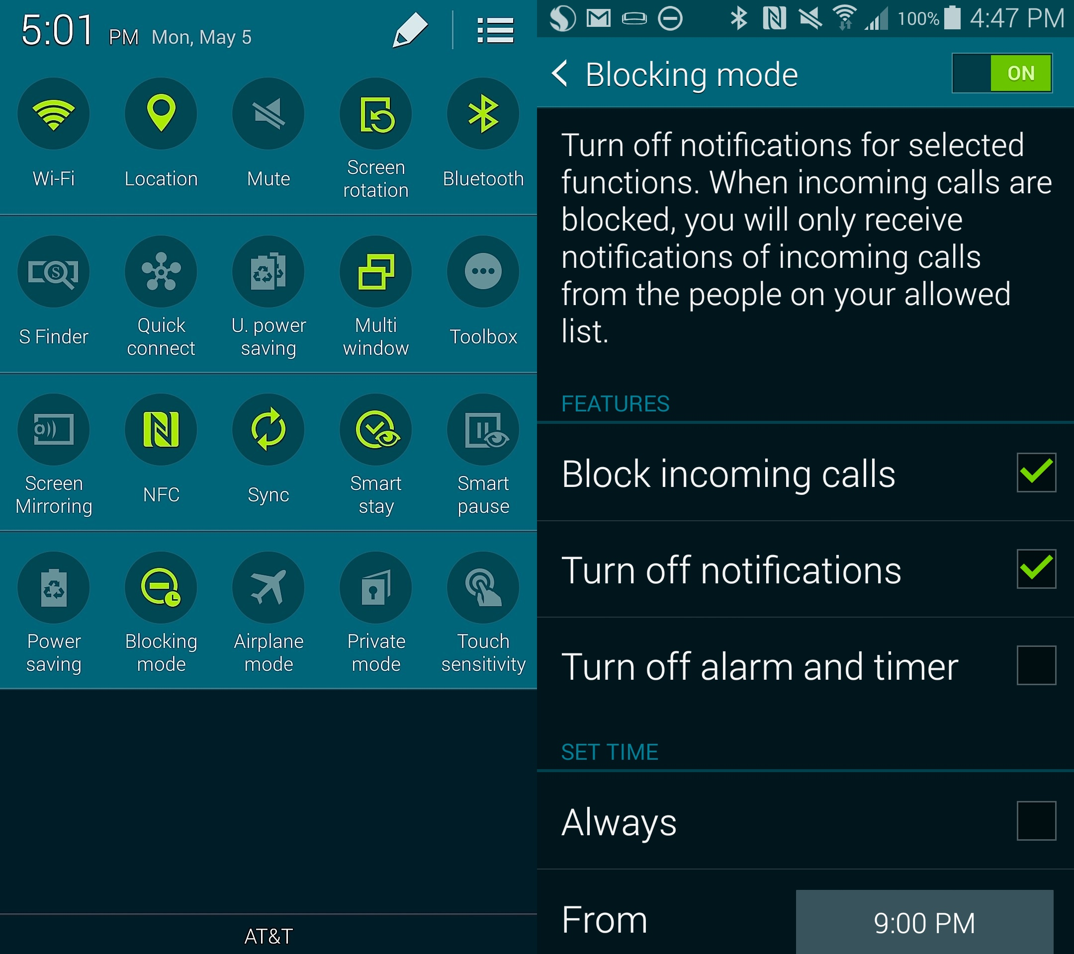 Here Is How To Set Up Blocking Mode On The Samsung Galaxy S5