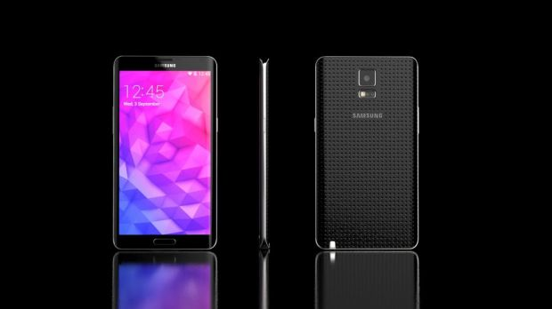 This Galaxy Note 4 concept features a design comprised of plastic and metal.