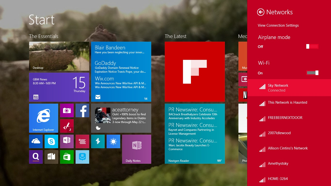 how to change wifi password in windows 8