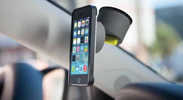 Mount the [+] drive in your car and attach the iPhone to a windshield or dash.