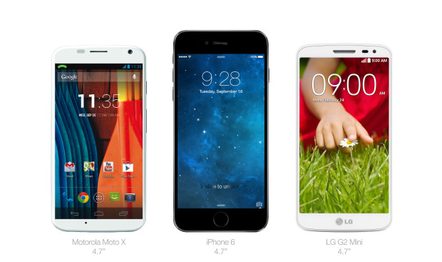 This iPhone 6 concept shows a 4.7-inch iPhone 6 next to a 4.7-inch Moto X, like the one in the video.