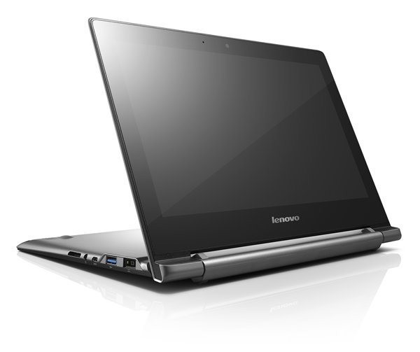 Lenovo is offering the Chromebook N20p with a touch screen and the ability to fold into this kickstand mode for touch screen usage.
