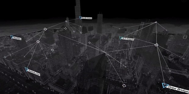 Hack the city in Watch Dogs.
