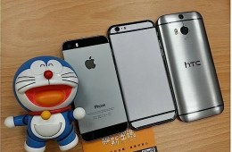 The mockup iPhone 6 vs HTC One M8 shows a similar size, but a shorter iPhone.