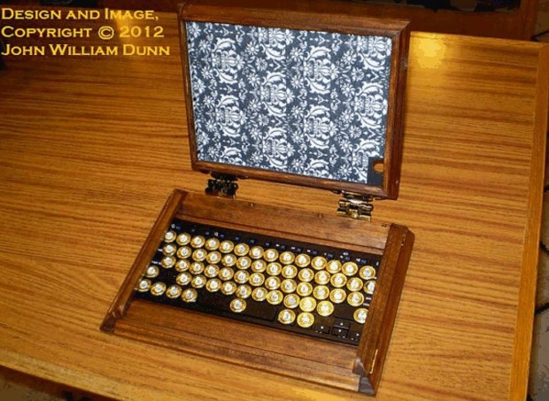 icog steampunk ipad air case open