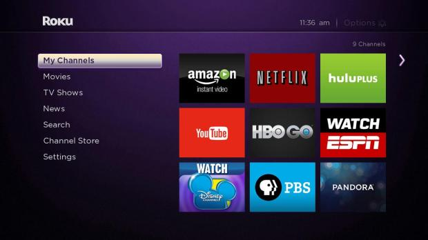 roku my channels