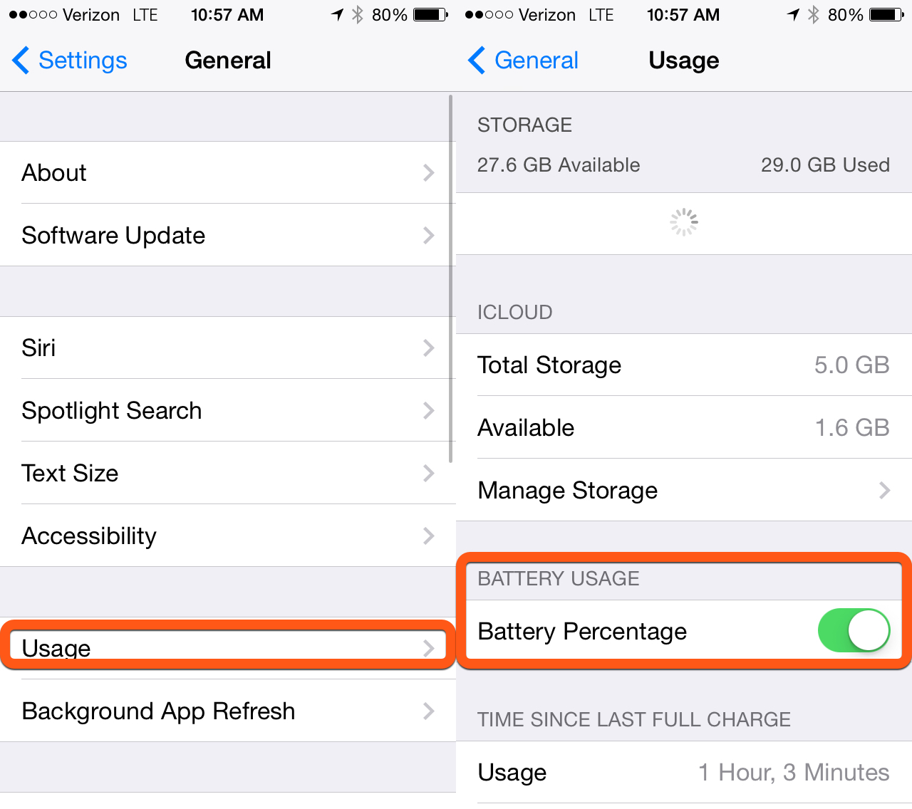 turn on battery percentage iphone how to show battery percent on iphone amp 18116
