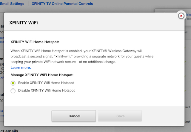 How to Turn Off Comcast Home Hotspot Feature