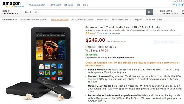 Kindle fire HDX & Fire TV Bundle