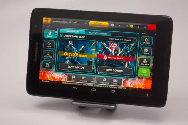 The Lenovo A8 can play games like Shadowgun.