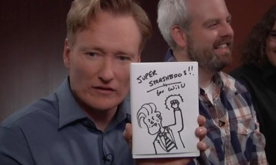 Conan reviews Super Smash Bros for Wii U well ahead of the holiday 2014 release.