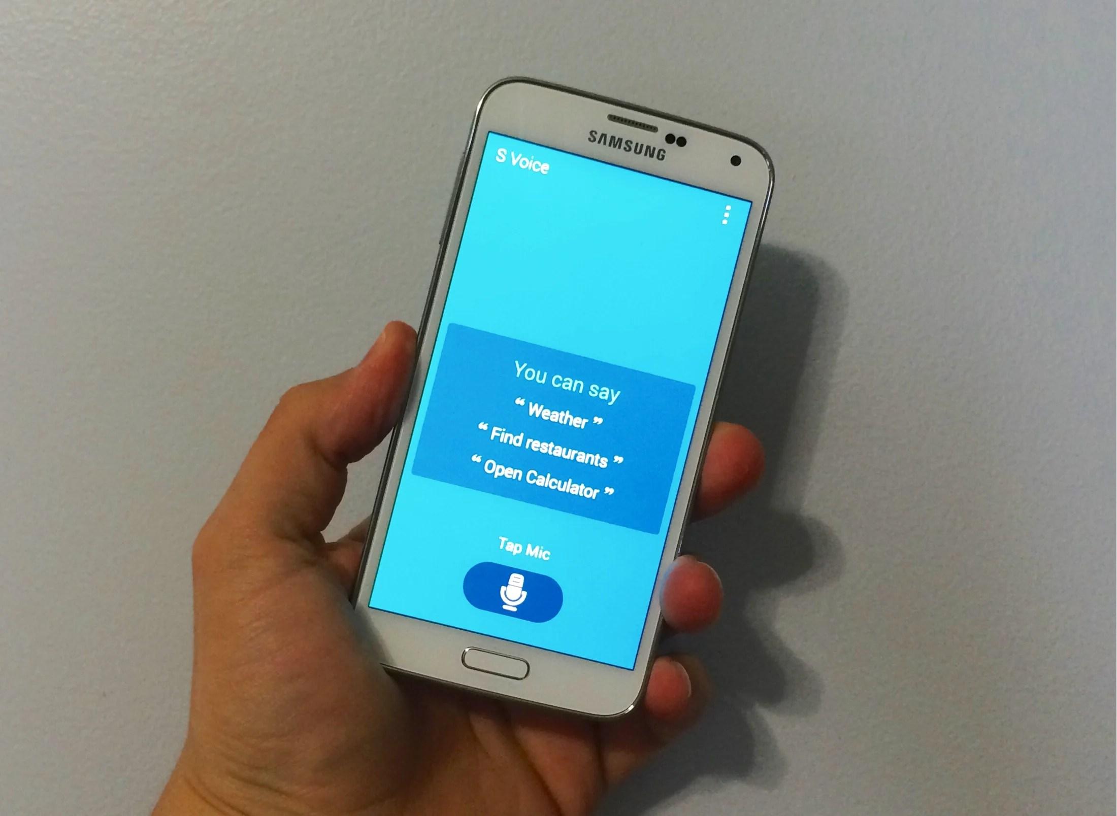 Galaxy S5 S Voice