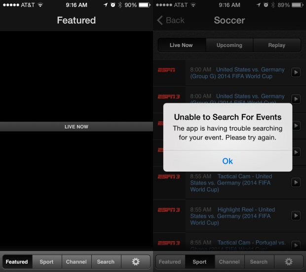 Heavy demand due to the USA vs Belgium game time may strain WatchESPN tomorrow.