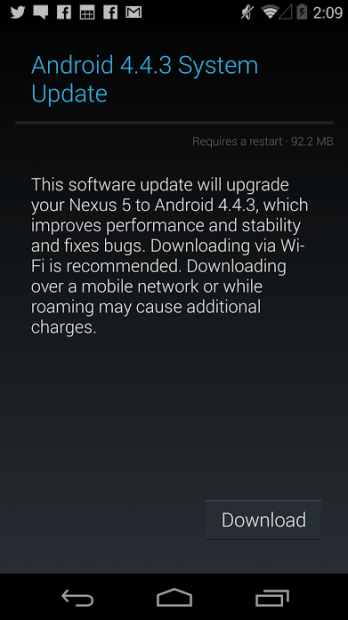 Android 4.4.3 KitKat arrived for Nexus 5 users earlier this month.