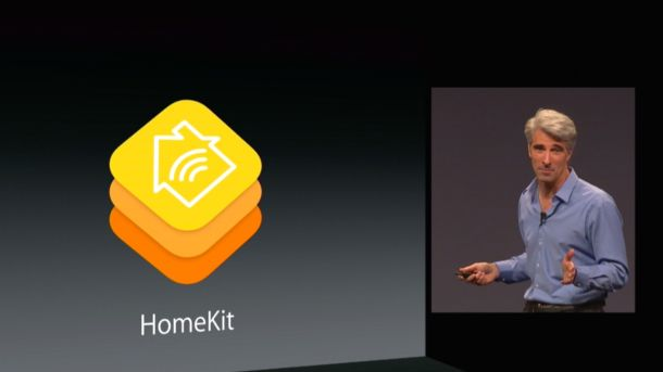 Apple executives introducing HomeKit.