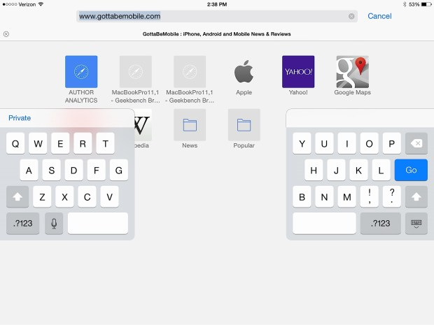 Check out these iPad tips for the keyboard.