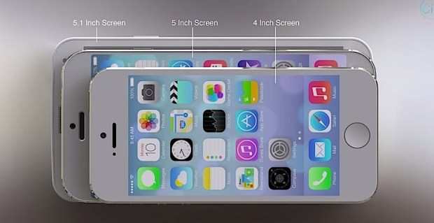 A real iPhone 6 will likely be closer in size to the iPhone 5s than the Galaxy S5.